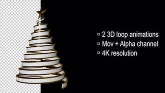 3D Loop Christmas Tree: Motion Graphics