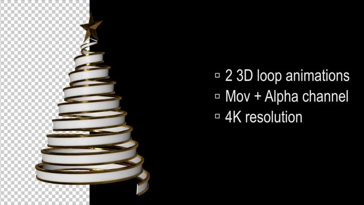 3D Loop Christmas Tree: Stock Motion Graphics