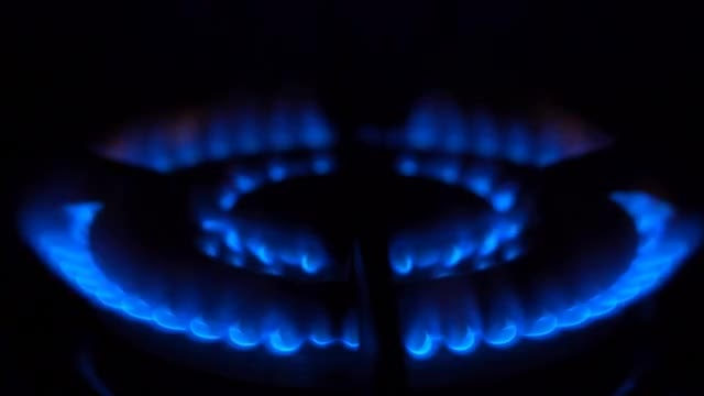 Burning Gas Blue Fire: Stock Video