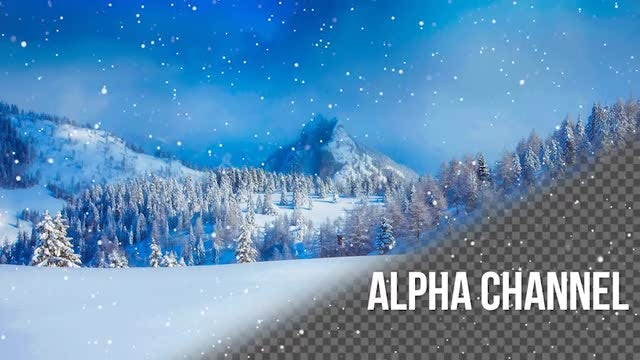 Snowfall Alpha Channel: Stock Motion Graphics