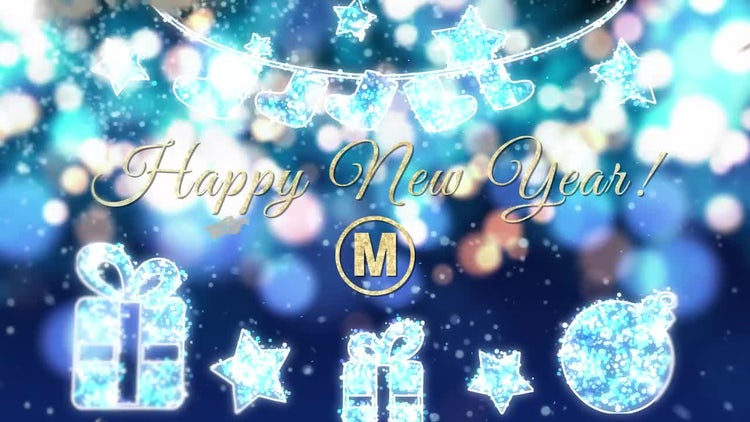 new year greeting card after effects templates