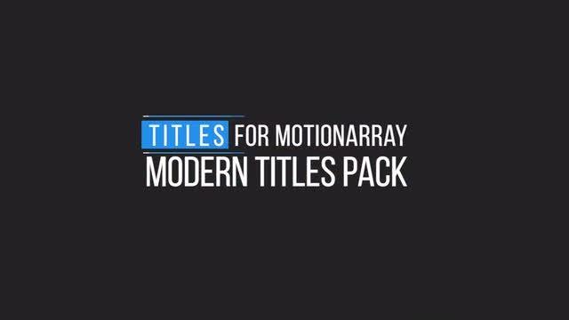 Minimal Motion Titles: Premiere Pro Templates