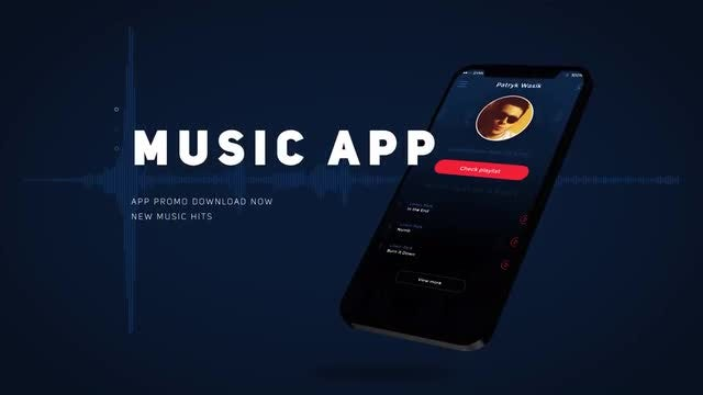 Music App Promo: After Effects Templates