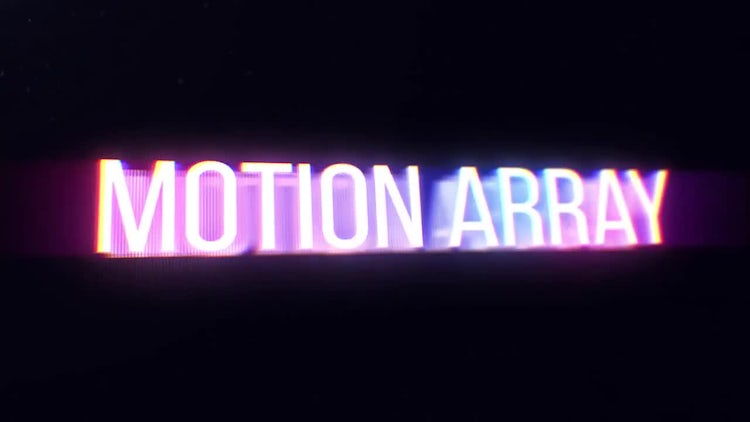 Glitch Neon Logo: After Effects Templates