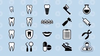 Dental Animated Icons: After Effects Templates