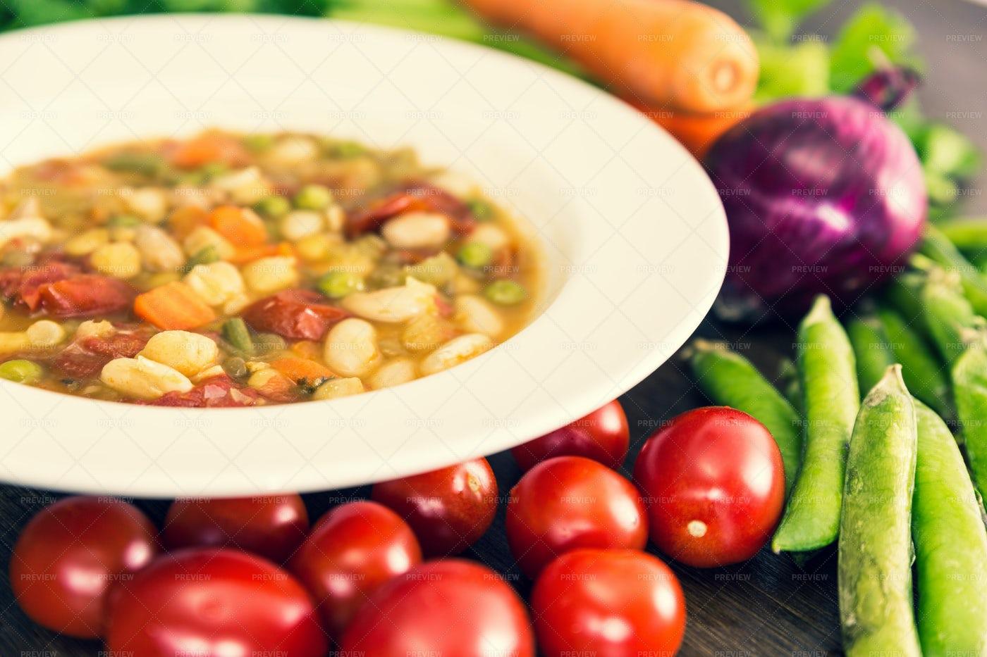 Vegetable Soup: Stock Photos
