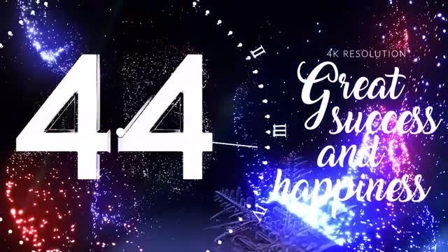 New Year Midnight Countdown: After Effects Templates