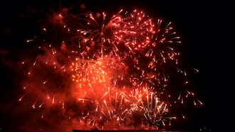 Fireworks Red: Stock Video