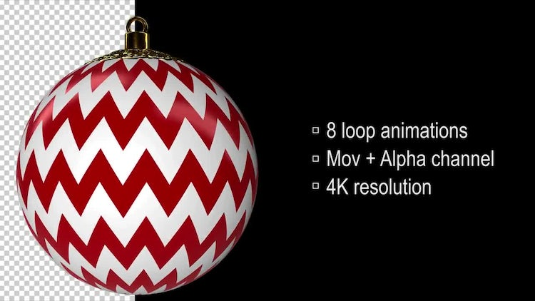 Christmas Balls: Stock Motion Graphics