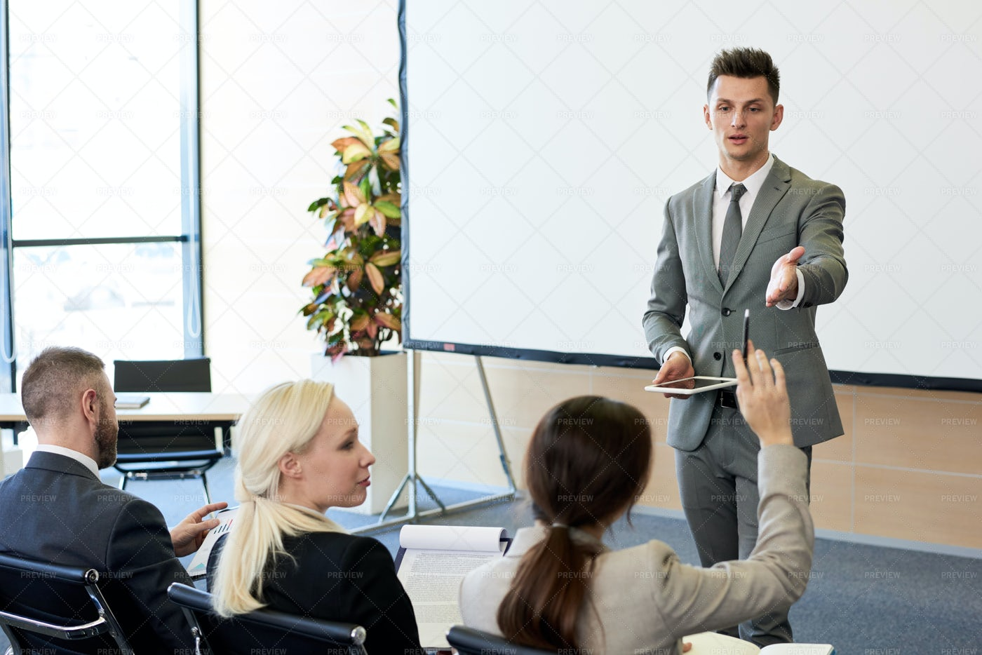 Business Coach In Seminar: Stock Photos