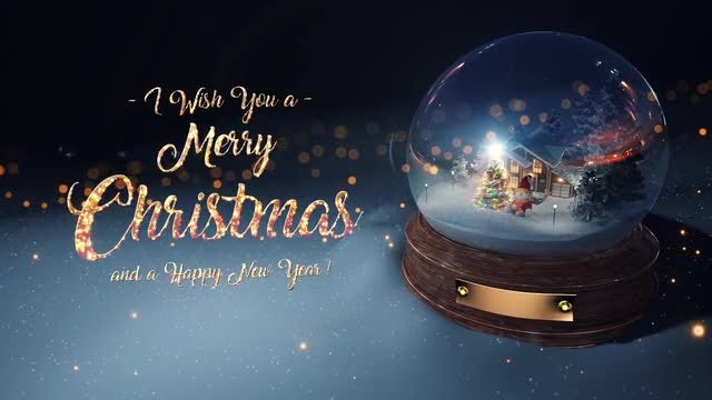 Christmas Snow Globe Cards: Stock Motion Graphics