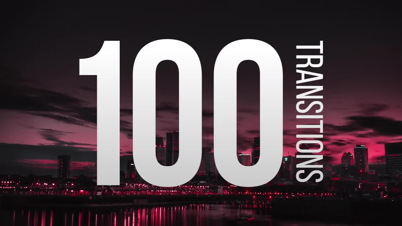 100 Transitions - Premiere Pro Templates - Free
