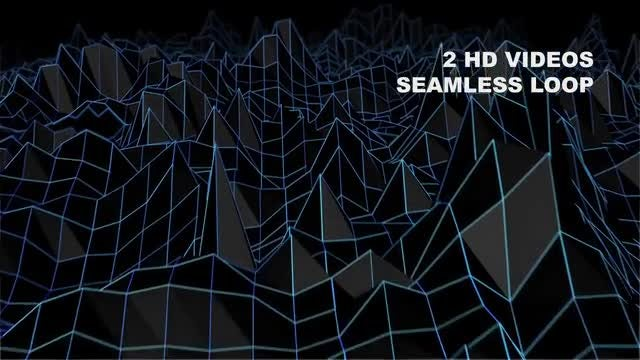 Retro Hologram Terrain: Stock Motion Graphics