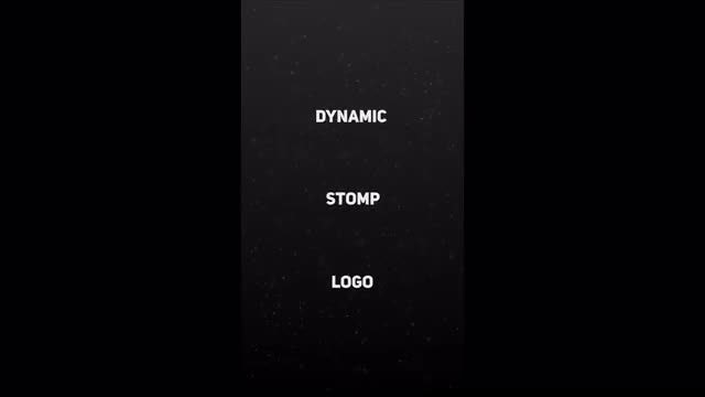 Dynamic Stomp Logo Vertical Mobile Template: After Effects Templates