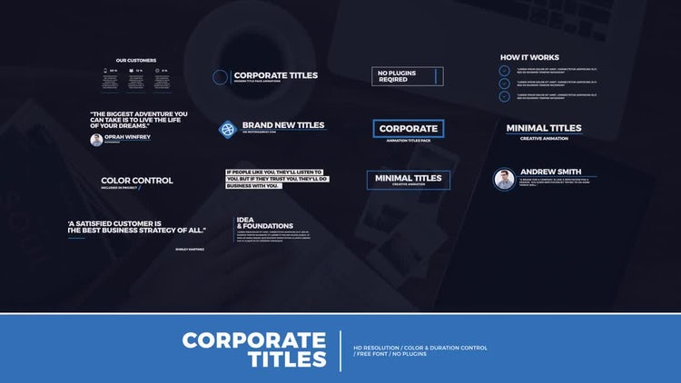 14 Modern Corporate Titles: After Effects Templates