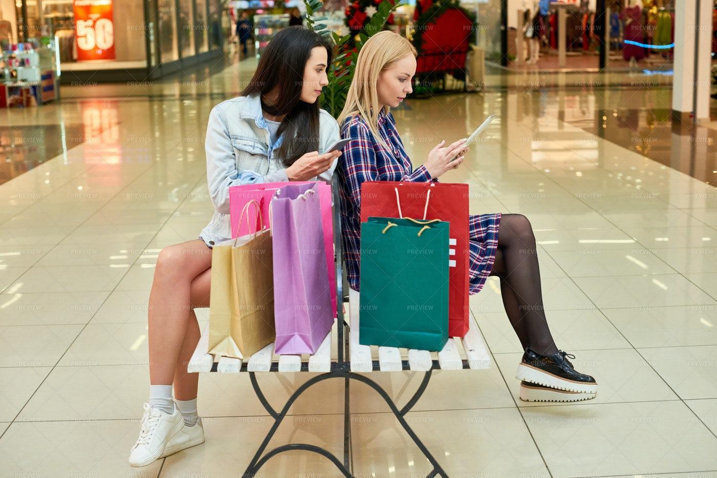 Young Shopaholics Addicted To...: Stock Photos