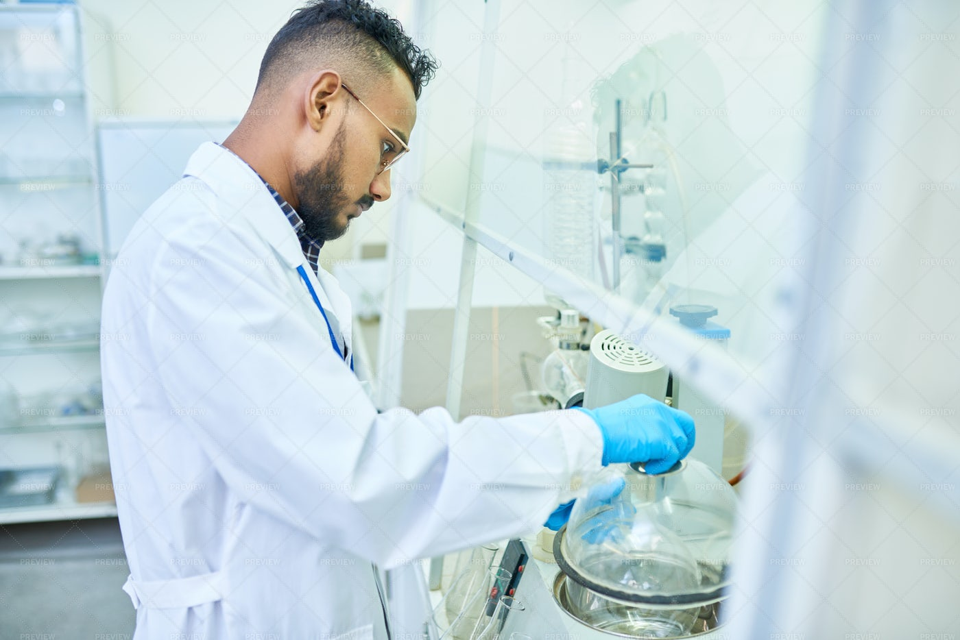 Middle-Eastern Scientist In...: Stock Photos