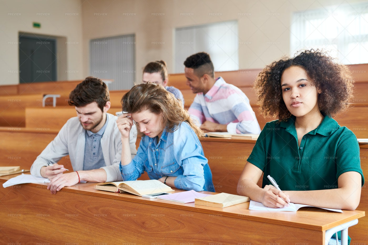 African Student Studying In...: Stock Photos