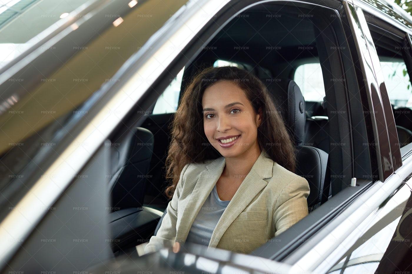 Joyful Owner Of New Car: Stock Photos