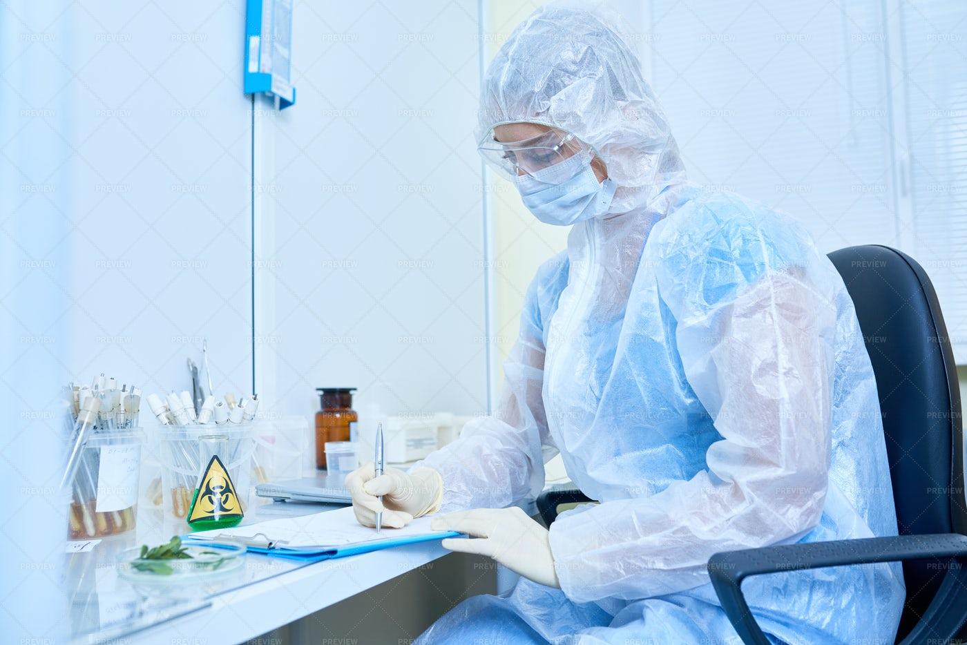 Scientist Researching Virus: Stock Photos