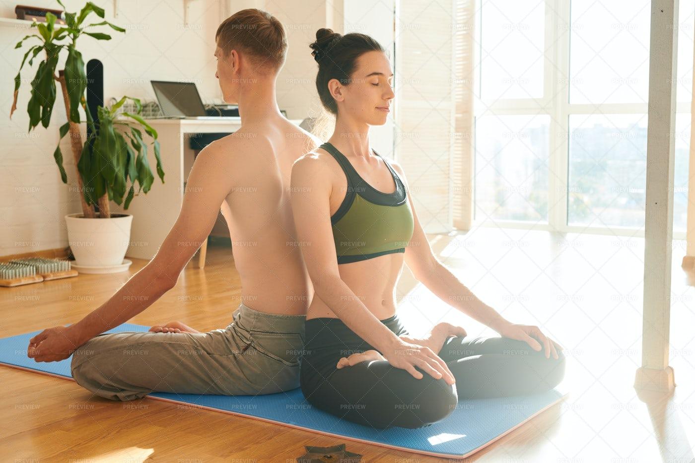 Spiritual Couple Meditating...: Stock Photos