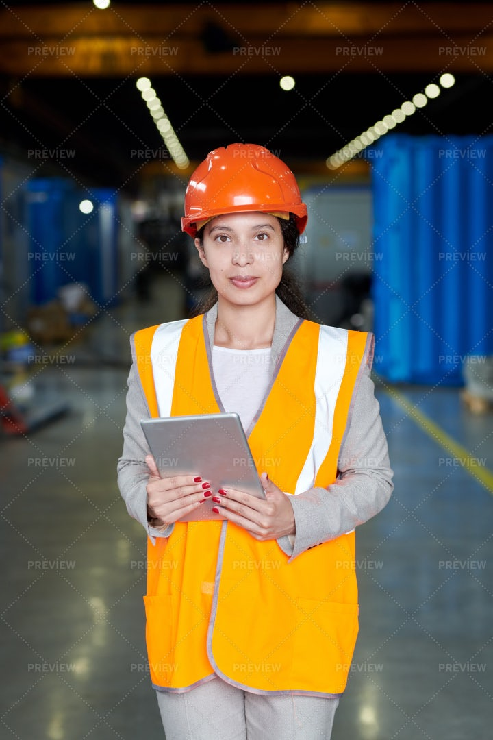 Female Factory Foreman: Stock Photos