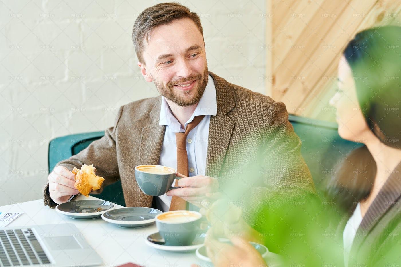 Handsome Businessman Enjoying...: Stock Photos