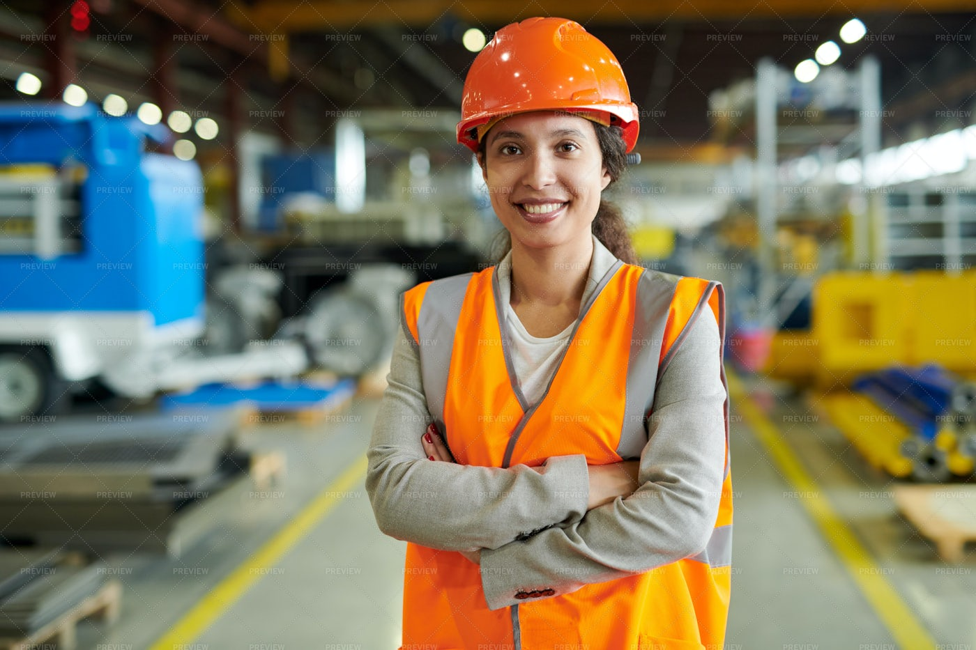 Confident Factory Worker Posing: Stock Photos