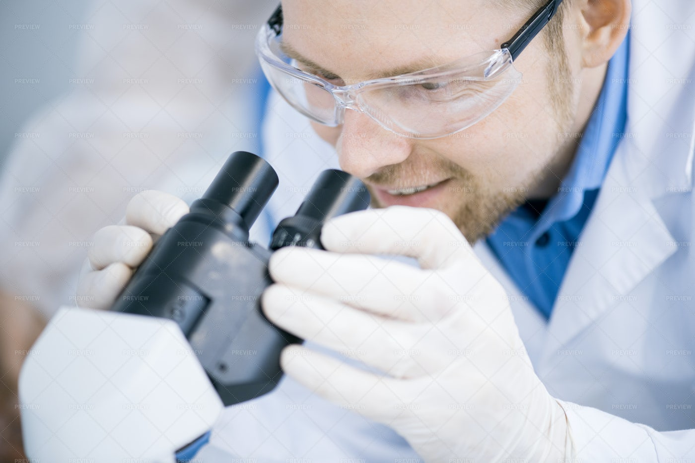 Scientist Doing Research In...: Stock Photos