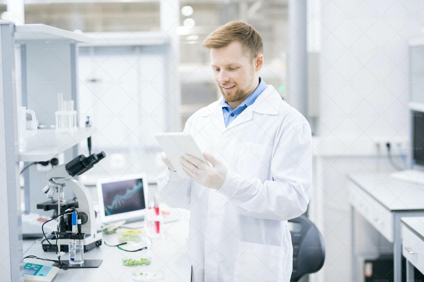 Modern Scientist In Laboratory: Stock Photos