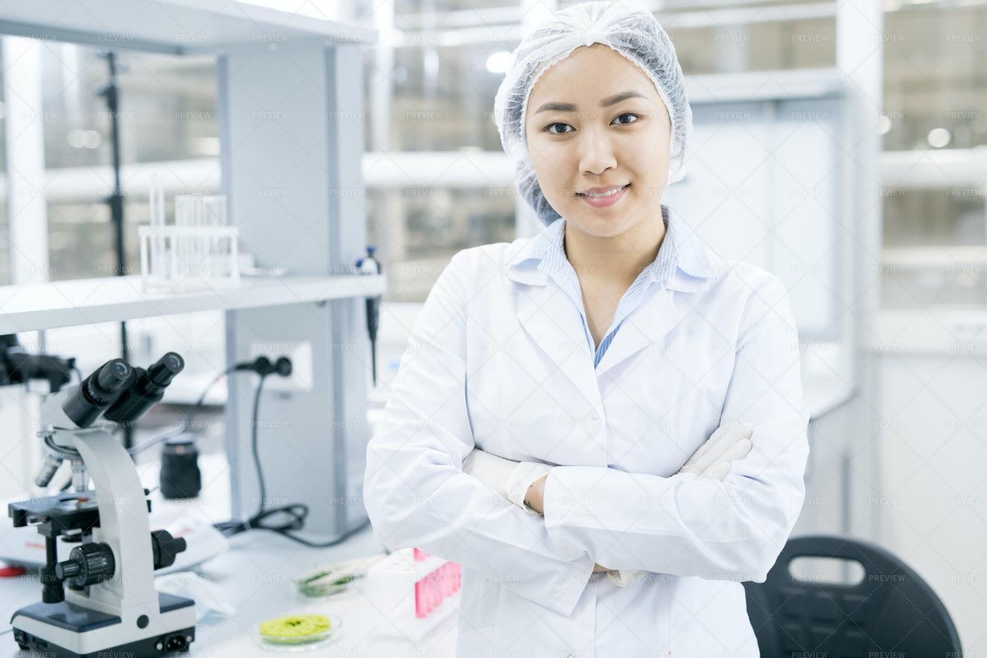 Asian Female Scientist In...: Stock Photos
