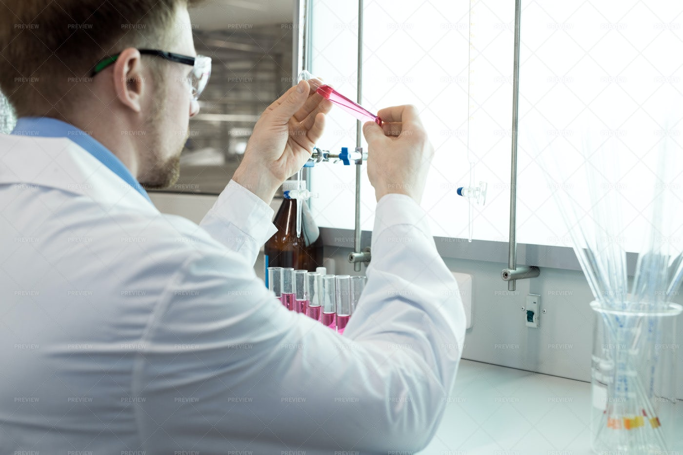 Scientists Doing Blood Tests: Stock Photos