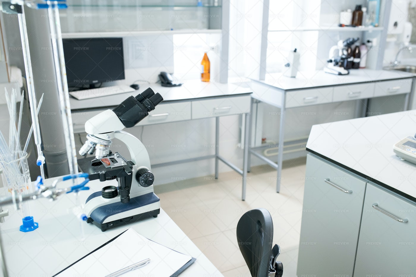 Modern Laboratory In Clinic: Stock Photos