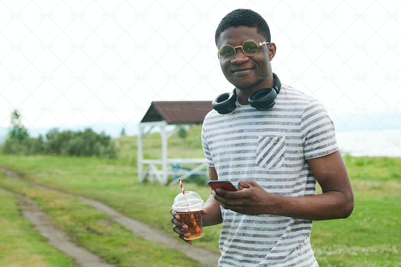 African Man Outdoors: Stock Photos