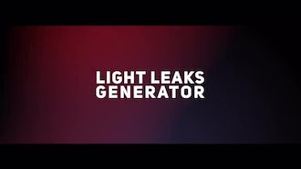 Light Leaks Generator: After Effects Templates