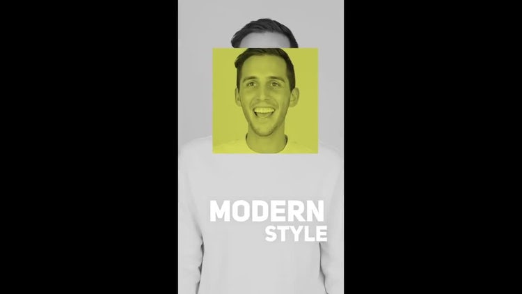 Modern Opener Vertical Mobile Template: After Effects Templates