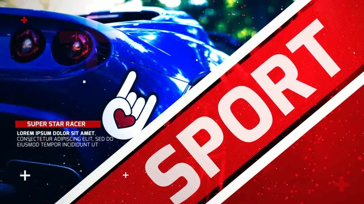 Sport Race Opener: After Effects Templates
