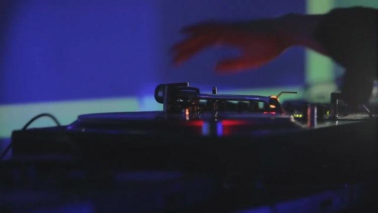 DJ Vynil: Stock Video
