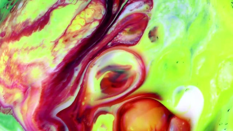 Colorful Ink Paint Blast Turbulence 8: Stock Video