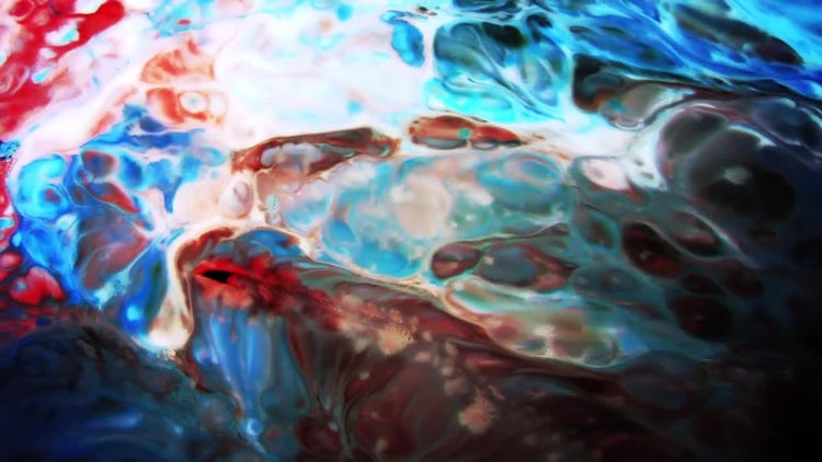 Colorful Ink Paint Blast Turbulence 11: Stock Video