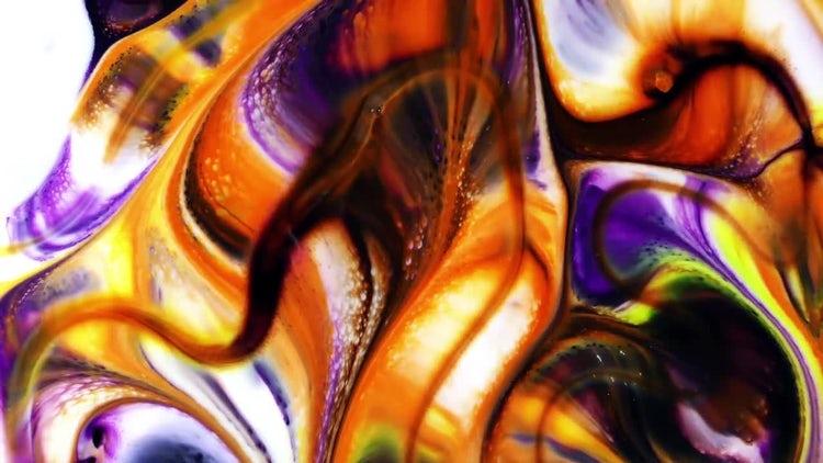 Colorful Ink Paint Blast Turbulence 21: Stock Video