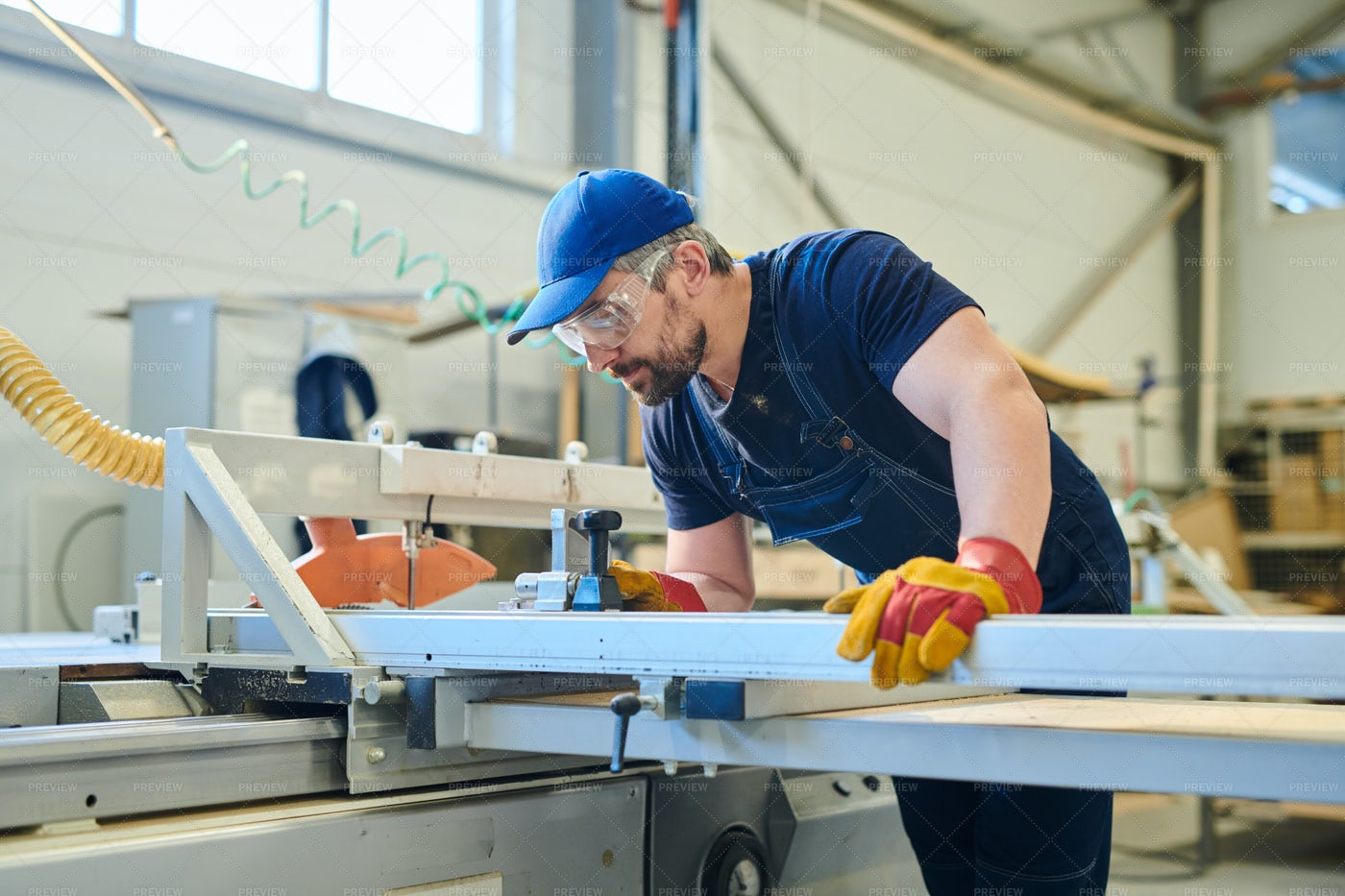 Worker Of Furniture Factory: Stock Photos
