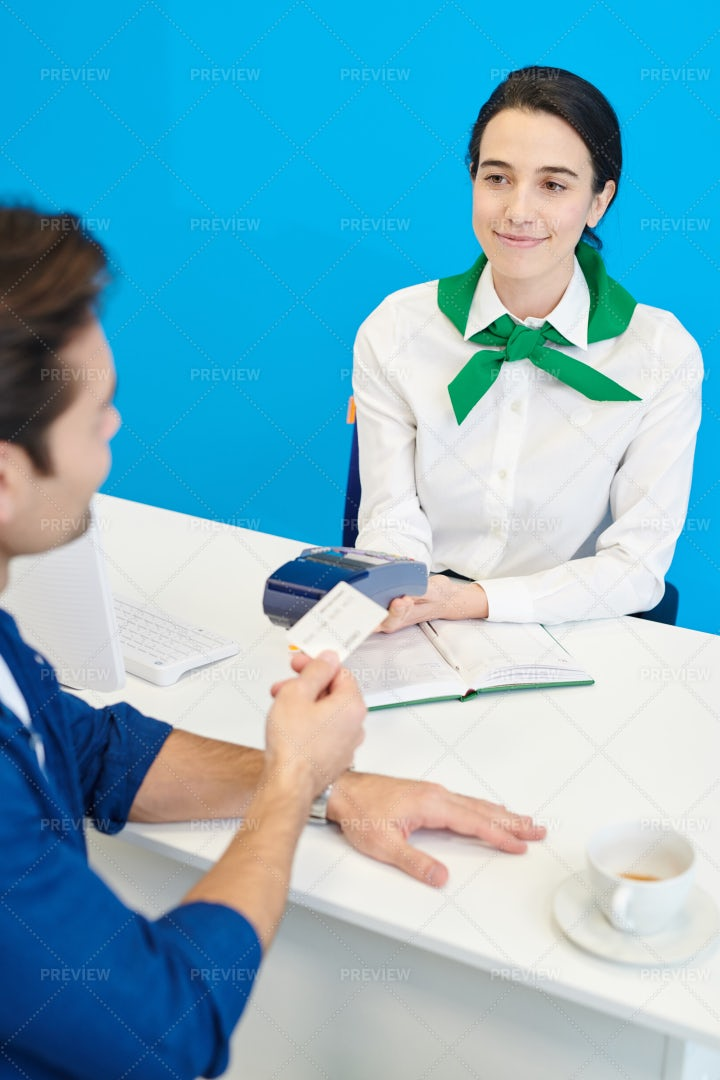 Female Bank Specialist Helping To...: Stock Photos