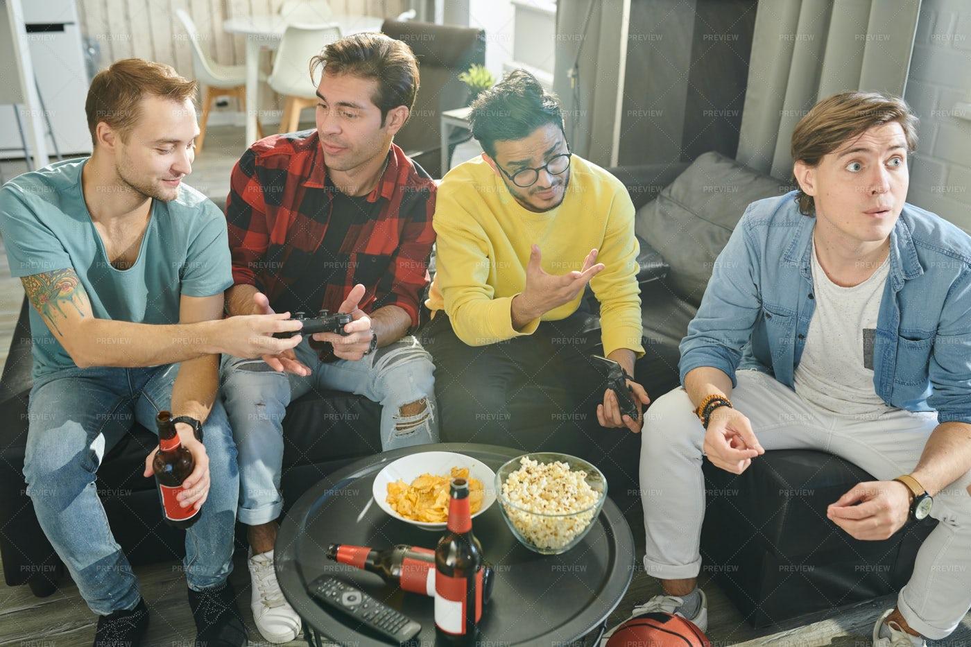 Men Enjoying Their Free Time: Stock Photos