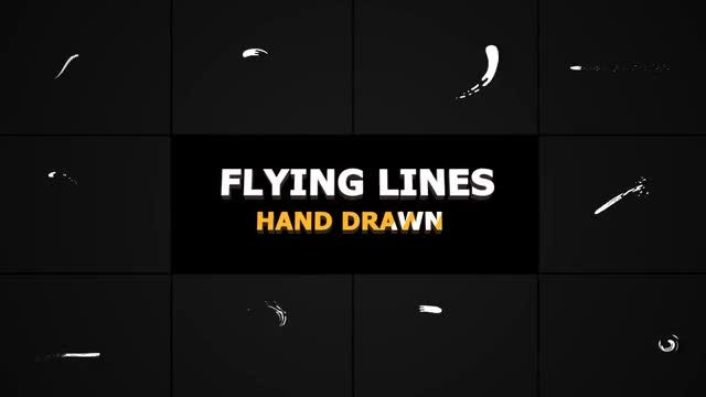 Hand Drawn Flying Lines: Stock Motion Graphics