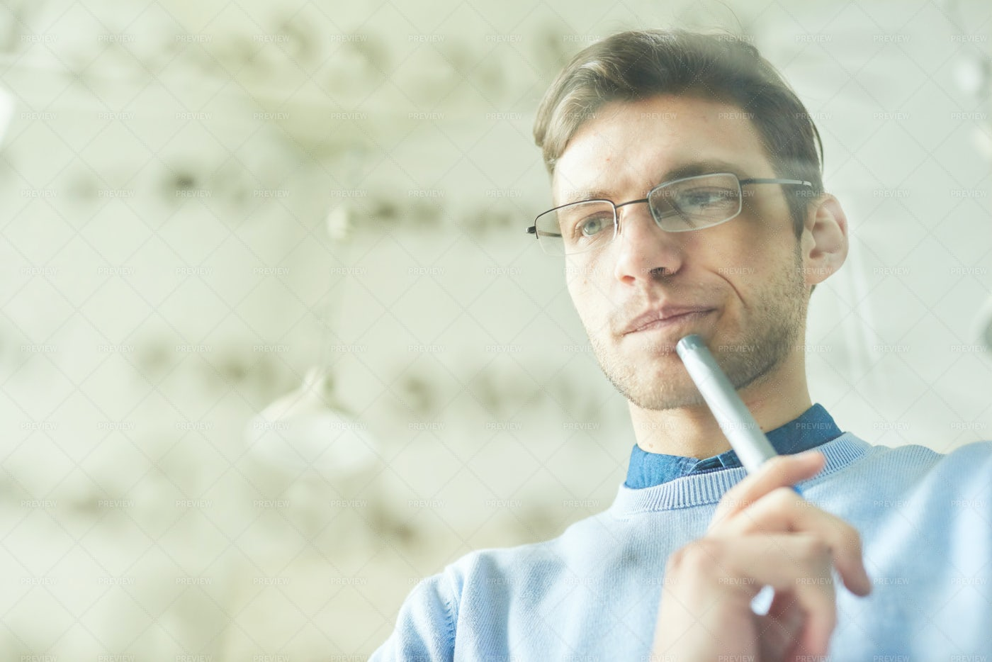IT Professional Thinking Over Code: Stock Photos