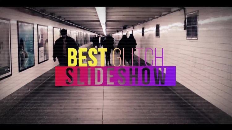 Best Glitch Slideshow: After Effects Templates