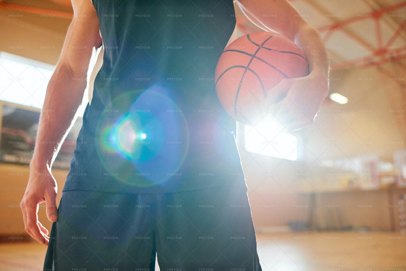 Close-up Of Basketball Player...: Stock Photos