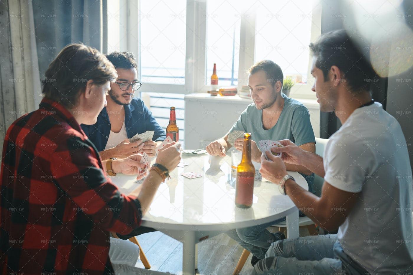 Men Playing In Gamble: Stock Photos