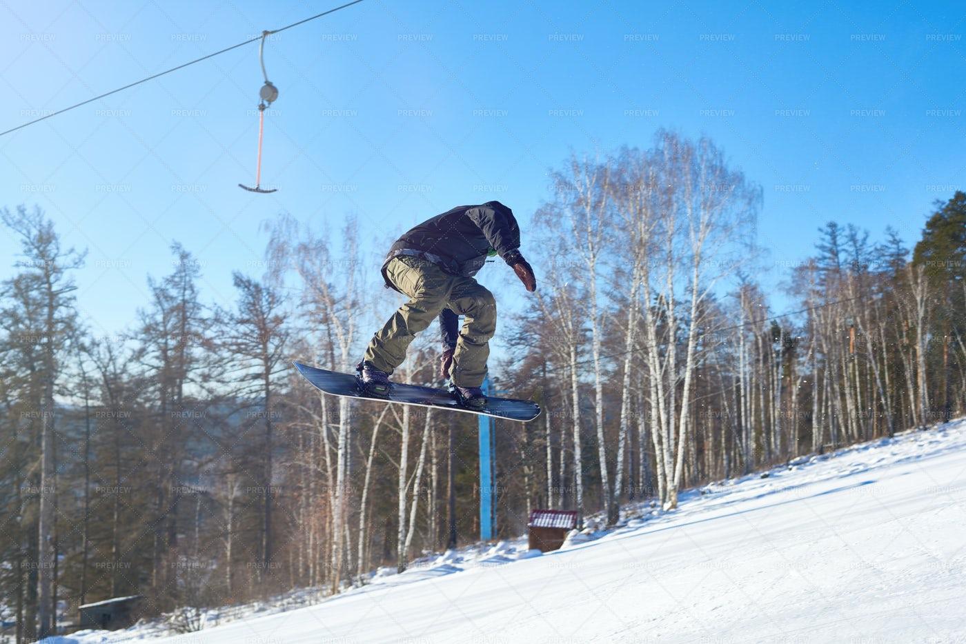 Extreme Snowboarding: Stock Photos